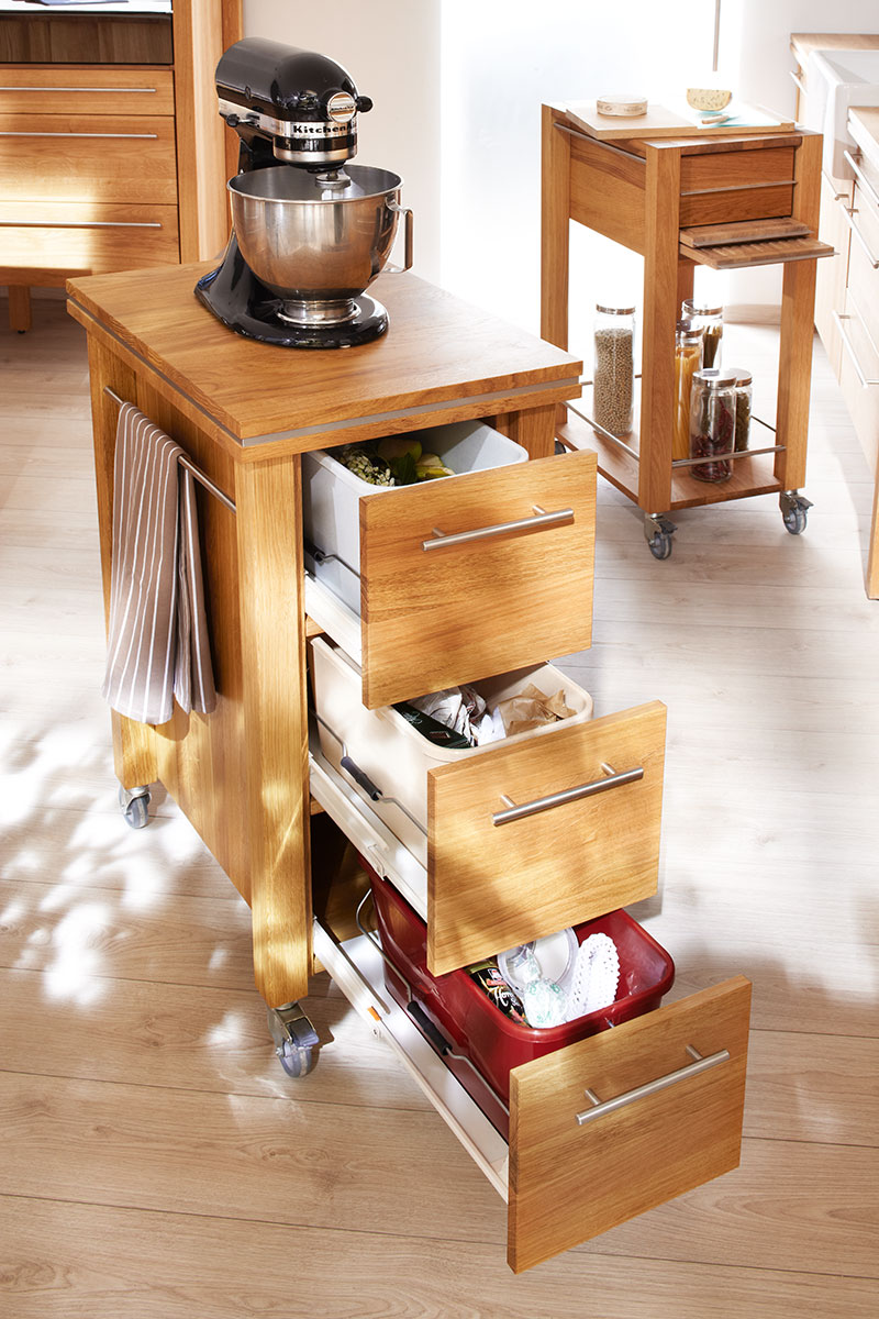 Annex kuchenwagen zenith aus massivholz for Küchenwagen antik