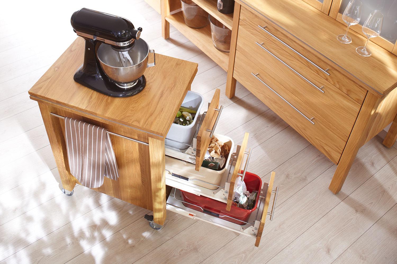 Küchenwagen holz  annex: Massivholz Küchenwagen, Butcherblocks, Servierwagen