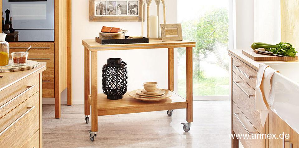 annex: Küchenwagen table pure aus Massivholz