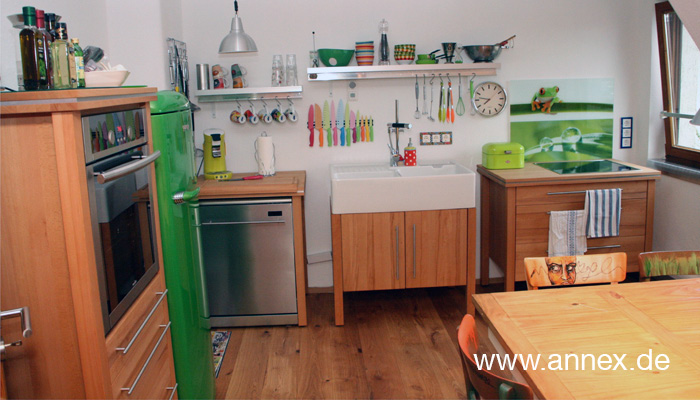 Landhaus Modulküche mit Spülstein