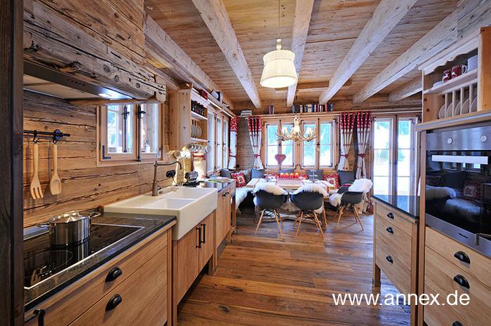 Landhausküche im Chalet