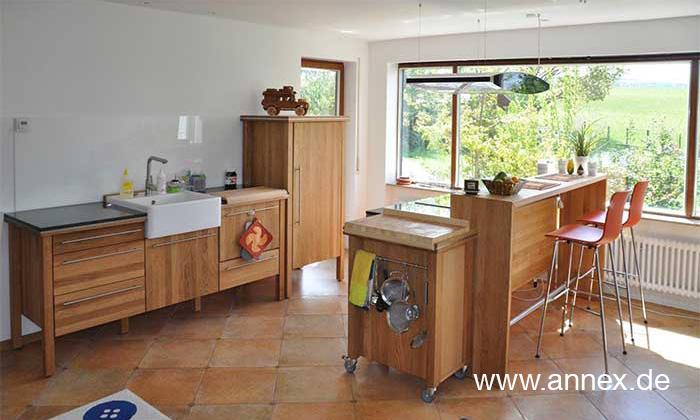 annex moderne Wohnküche Eiche Warendorf