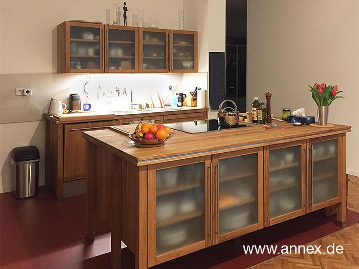 annex Modulküche aus Massivholz in Kiel
