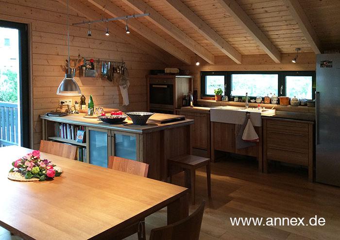 annex Naturholzküche Buche mit Kochinsel Detmold