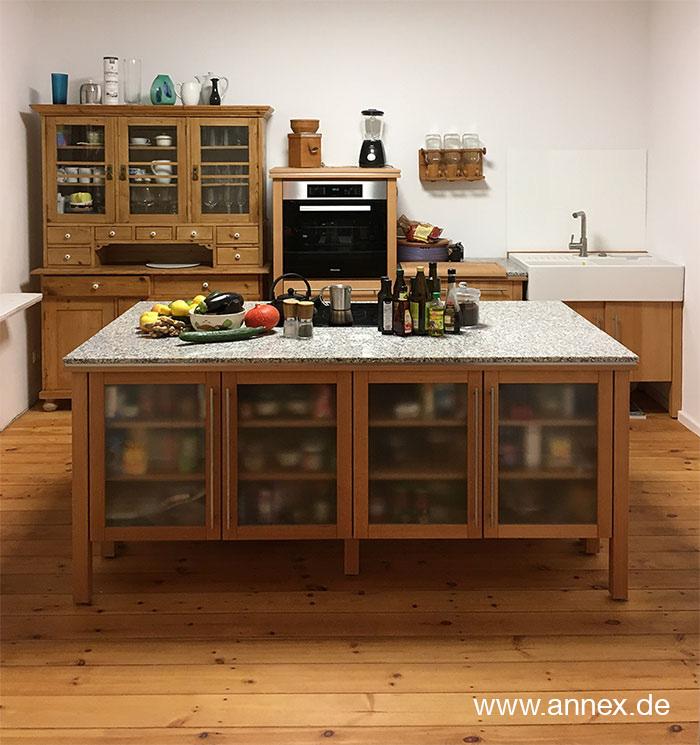 annex Naturholzküche mit Kochinsel Erfurt